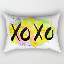 kisses and hugs watercolour Rectangular Pillow
