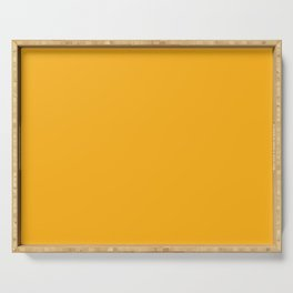 Solid Bright Beer Yellow Orange Color Serving Tray