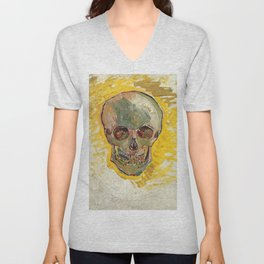 Skull by Vincent van Gogh, 1887 Unisex V-Neck