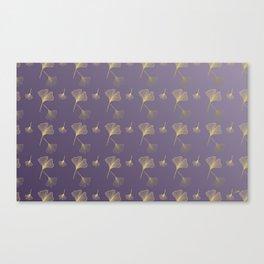 Ginkgo Purple Gold Canvas Print
