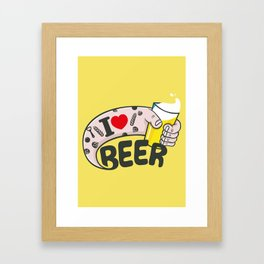 I LOVE BEER Framed Art Print