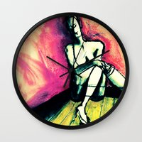 transparent Wall Clocks featuring Transparent by Helen Syron