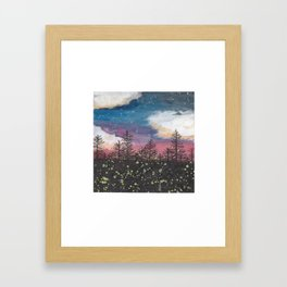 Fireflies Framed Art Print