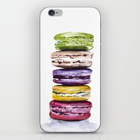 macarons iPhone & iPod Skins featuring Macarons by Bridget Davidson