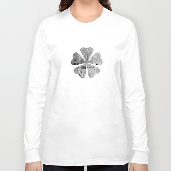 face texture white Long Sleeve T-shirt