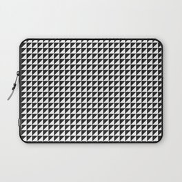 Triangulate Black and White Laptop Sleeve