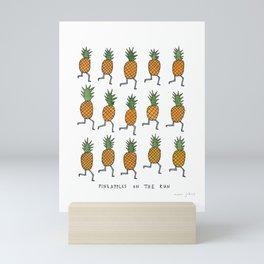 pineapples on the run Mini Art Print
