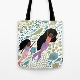 Mermaids and Fish in the Ocean Tote Bag