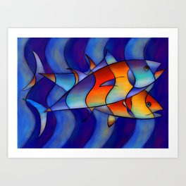 Cassanella - dream fish Art Print