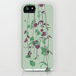 String of Hearts Plant Illustration - Portrait of Harriet 02 iPhone Case