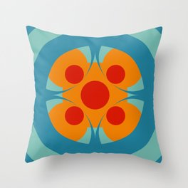 Colorful Genuine Circle Cipactli Throw Pillow