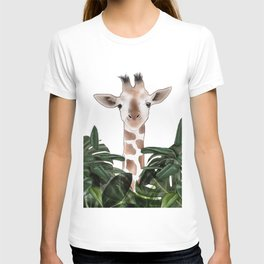 Giraffe above the trees T-shirt