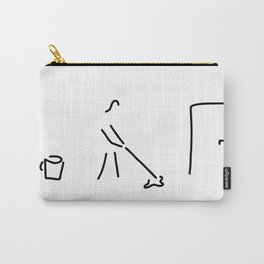 cleaning lady building cleaner Carry-All Pouch