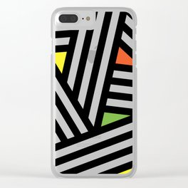 Timo Abstract Pattern #1 Clear iPhone Case