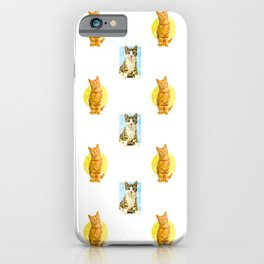 Local Cats Pattern Illustration iPhone Case