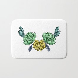 cacti and flowers ( https://society6.com/totalflora/collection ) Bath Mat