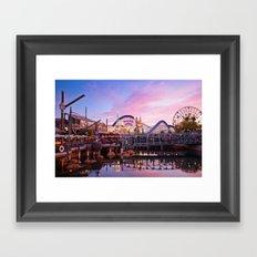 Paradise Pier Framed Art Print