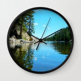 Dream Lake Reflections Wall Clock