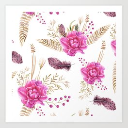 Autumn Forest Floral Art Print