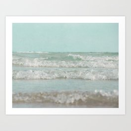 Mint Ocean Art Print