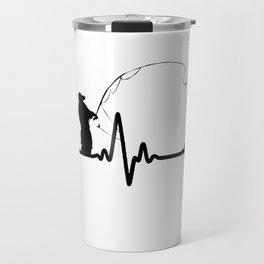 Heartbeat fishing Travel Mug