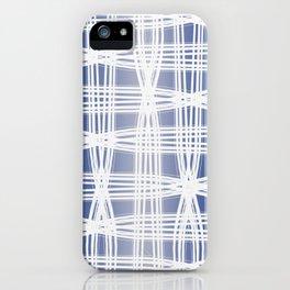 Indigo Pattern (Slim Look Leggings) No.1 iPhone Case