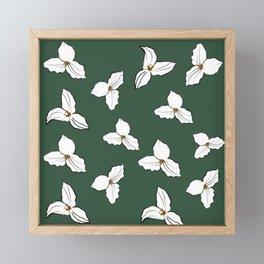 Trilliums Framed Mini Art Print