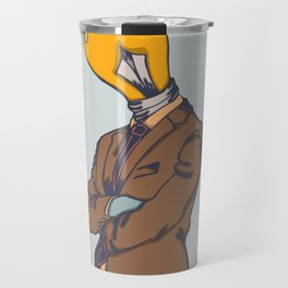 Light Bulb Head Travel Mug