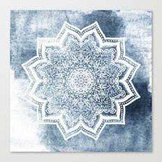 BLUEISH SEA FLOWER MANDALA Canvas Print