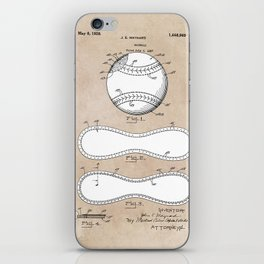 patent Maynard Baseball 1927 iPhone Skin