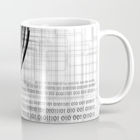 data Mugs featuring Techno data ring #1 by Juliana RW