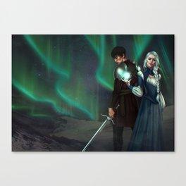 Snow Queen Sacrifice by K.M. Shea Book Cover Canvas Print