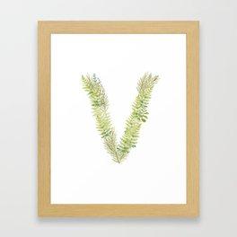 Initial V Framed Art Print