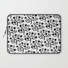 Mid Century Modern Berries Pattern Black & White Laptop Sleeve