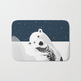 Unique Polar Bear Scene Bath Mat