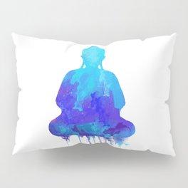 Watercolor zen Buddha blue Pillow Sham