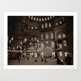 """Inside Sultan Ahmed Mosque (""""Blue Mosque"""", Istanbul, TURKEY) Art Print"""
