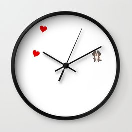If I Can't Bring My Bernese Mountain Dog Wall Clock
