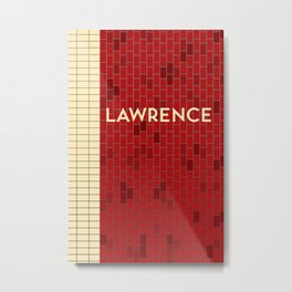 LAWRENCE | Subway Station Metal Print