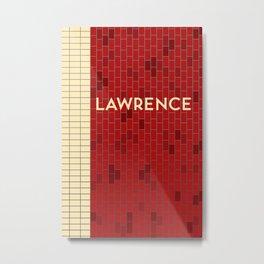 LAWRENCE | Subway Station Metal Print