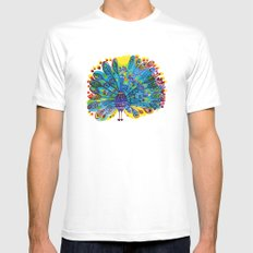 Peacock Mens Fitted Tee White LARGE