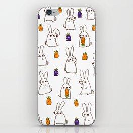 Rabbit on field iPhone Skin