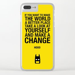 Bruce Wayne alter l-ego best quote Clear iPhone Case