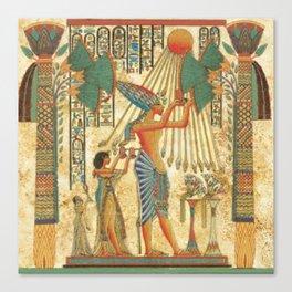egyptian man sun god ra amun Canvas Print