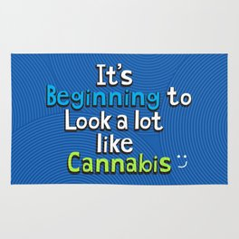 It's Beginning to Look Alot Like Cannabis Rug