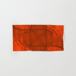 Fractal Eternal Rounded Cross in Red Hand & Bath Towel