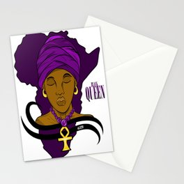 Black Queen Africa Background Stationery Cards