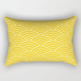 Fan pattern in yellow Rectangular Pillow