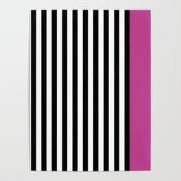 Liquorice allsorts, dark pink Poster