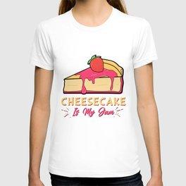 Cheesecake Is My Jam Strawberry Cream Cheese Cracker Pastry T-shirt